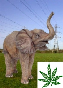 elephant pylon with hemp